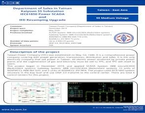 IEC61850 for Kaiyuan SS Substation (Department of Sales in Tainan)